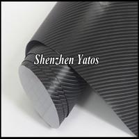 Super Quality 4D Carbon Fiber Film Black Car Carbone Decals Air Channels
