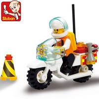 Sluban Blocks Fire Center Fire Motorcycle 28pcs/set M38-B3200 Children's Enlightenment Educational Blocks Toys