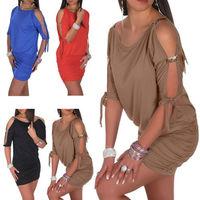 Fashion Women Rhinestone Shoulder Strap Above Knee Sexy Short Mini Club Dress#M4