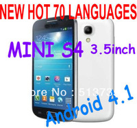 New minii9500 miniS4 phone 3.5 inch android 4.1 1GHz mtk6515 M-horse Smart Phone Dual Sim WIFI mini I9500 phone case as Gift
