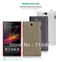 Free  Free ship  for Sony S39h \ Xperia C cases Nillkin super frosted shield +Screen protector for free