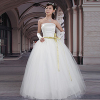 2013 married spring wedding dress tube top sweet princess double zipper