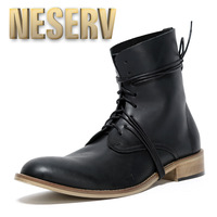 - neserv - 2013 winter fashion male boots fashion genuine leather boots