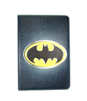 Brand Design Retro Cartoon Batman Flip Stand Bling Leather Case Smart Cover For Samsung Galaxy Tab 2 10.1 P5100 P5110 Bags Pouch