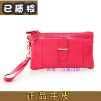 2013 women's wallet female long design genuine leather wallet zipper cowhide women's wallet leather
