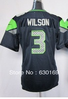 Women  Russell Wilson 3  American football Jersey,Cheap Sports Jersey,Embroidery logos,Mix order