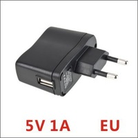 Free shipping Portable AC EU Charger  5v 1A Power Adapter to USB EU for Mobile Phone MP4 MP3 Camera