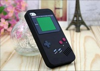 3D silicone game machine case cover for iphone 4/4s , DHL 300pcs/lot free shipping