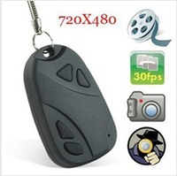 808 HD 30FPS  CAM Car Key Chain Mini Camera  720*480 Support Video 8GB TF