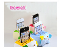 Kawaii 10PCS Plush Stuffed Toy Japan TOFU DOLL Cell Mobile Phone Stand Holder Pouch Case; CAR Phone Stand Holder Doll Rack