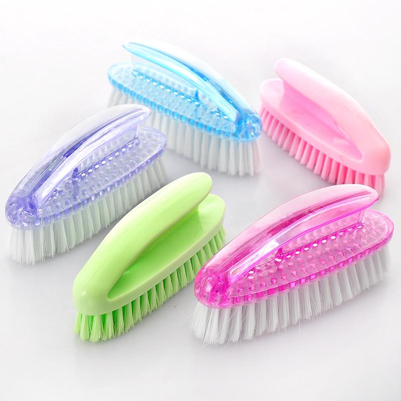 Crystal multifunctional transparent laundry brush cleaning brush shoe brush e467(China (Mainland))