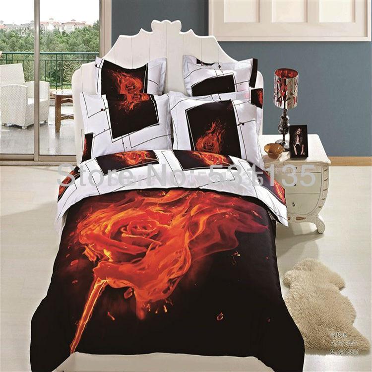 Red Black White And Gray Bedding Red Black White Roses 100