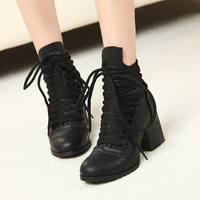 Free shipping 2013 new arrival winter women's boots cross straps wood casual shoes g28 PPXX