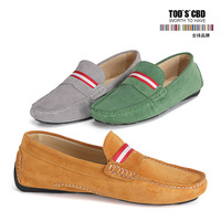 Tze first layer of cowhide gommini loafers casual flat slip-resistant low heel genuine leather male single shoes