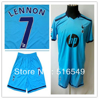 2013 2014 New UK England FC Tottenham Hotspur Home Thai Football Shirt Soccer Jersey LENNON#7 Sports Shirt &short