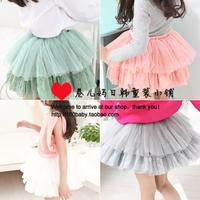 2014 new free shipping Pleasant baby female child summer yarn multi-layer girls skirt princess puff skirt chirldren's skirt