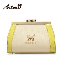 Free Shipping 2013 Designer small fresh color block candy color sweet cat lockbutton small bag coin purse