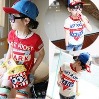 2014 Special Offer Regular New Pcs Baby Boys And Girl T Shirt Kartoon Kids Children Tops Summer Wear Sleeve Clothing Clothes