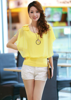 2013 summer mounted princess chiffon shirt AYILIAN slim ruffle
