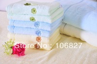 35*75 cm High quality soft 100% cotton plain bathroom hand towel HT-007, simple design for daily use