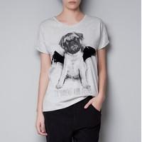 Free ship women/lady Cute bulldog puppy female T-shirt women's short sleeve 100% cotton t shirts