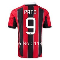 Free shipping PATO #9 AC Milan Home soccer Jersey shirt football uniforms best thai quality