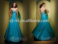 2012 prom gown taffeta dropped waist SL-4953
