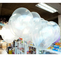 100pcs/lots Free shipping wholesales 10 inch clear balloons ,transparent balloons , wedding/party/brithday decoration
