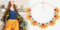 Brand New Designer Inspired Coral Pink j.e.w.e.l Crew Statement Necklace HK0000039