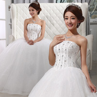 Evans 2013 sweet princess tube top wedding dress wedding qi bandage white wedding dress