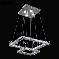 Wholesale - Pendant light/hanging/Modern Lights/Top Quality Samsung LED K9 Crystal Double Squares Free Shipping CE Rosh Save