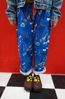Harajuku zipper cartoon superman super man sesame street pajama pants at home casual pants