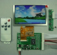 VGA+2AV LCD Controller board +5inch AT050TN43 800x480 Lcd Panel+Remote
