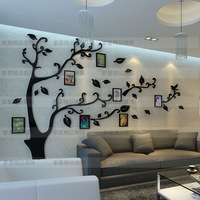 Crystal three-dimensional wall stickers tv wall background wall sofa background wall acrylic