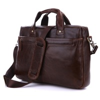 Vintage Genuine real leather  Men buiness handbag  laptop briefcase  shoulder Travel bag  / man  messenger  bag  JMD7075LQ-288