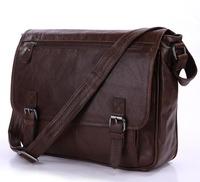 Vintage Genuine real leather  Men buiness handbag  laptop briefcase  shoulder Travel bag  / man  messenger  bag  JMD7022LB-307