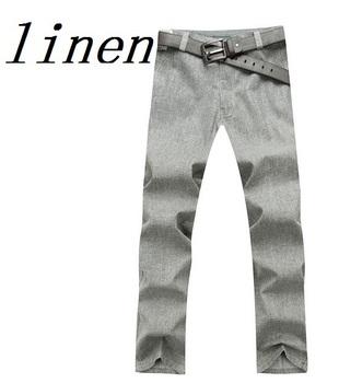 100% Linen Pants Big Size Hot Sale Brand 2013 Autumn Linen Pants Brand Men's Linen Pants Men Denim Jeans Fashion linen Men Denim