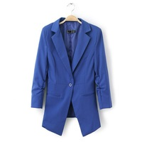 fall fashion brand candy-colored long-sleeved women notched jacket free shipping