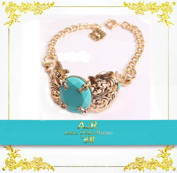 2013 New arrival Star styles Turquoise retro exaggerated choker necklace big brand free shipping High quality
