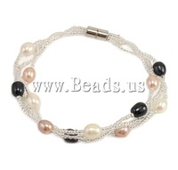 Free shipping!!!Freshwater Cultured Pearl Bracelet,Fashion Jewelry in Bulk, Cultured Freshwater Pearl, 5-6mm, Length:7.5 Inch