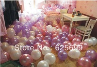 """Free shopping 500pcs/lot 10"""" inch Round shape latex air balloons Wedding Birthday party decorations 12 colors"""