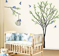 Large Bird Cage Tree Vinyl Wall Sticker Art Decal Decor Kid Nursery