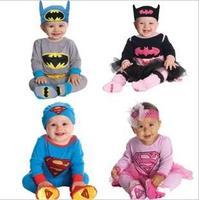 New children Superman Batman 2 pcs set autumn Pajamas suit children clothing set children clothes Pajamas autumn wear 3sets/lot