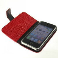 For iPhone 3G 3GS PU Leather Wallet Case Cover + free shipping