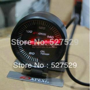 2.5 INCH 60MM carro AP Apexi óleo medidor de temperatura , Temperatura do óleo medidor , cara preta e White Light(China (Mainland))