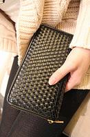 Ddpopo knitted zipper wallet boy wallet female clutch wallet card holder w549