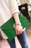 2013 women's handbag japanned leather envelope clutch bag female fashion one shoulder cross-body clutch