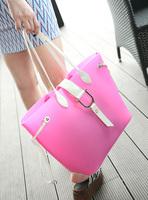 Transparent bags 2013 jelly bag female picture package women's handbag candy shoulder bag