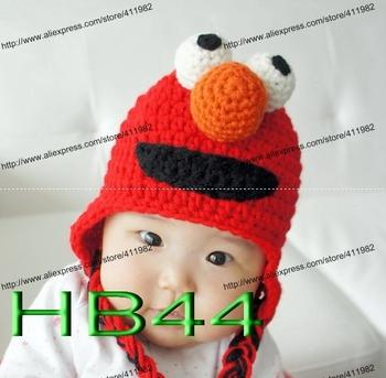 Elmo Ear Flap Hat - AllFreeCrochet.com - Free Crochet