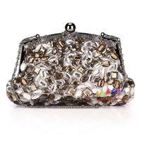 Women's handbag evening bag cheongsam handmade beaded women's handbag vintage bag banquet bag 253